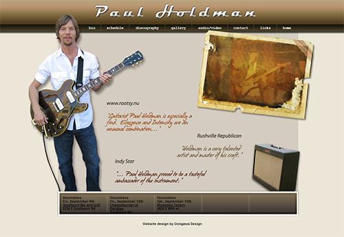 Paul Holdman Website