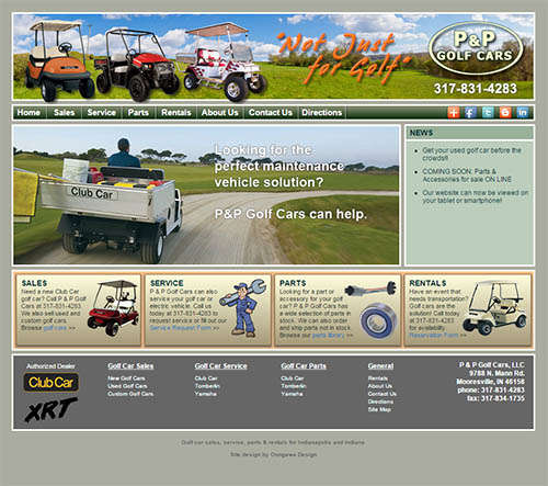 P & P Golf Cars Responsive Web Design