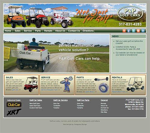 P & P Golf Cars Responsive Web Design