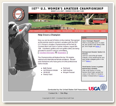 2007 US Women's Amateur Championship Website