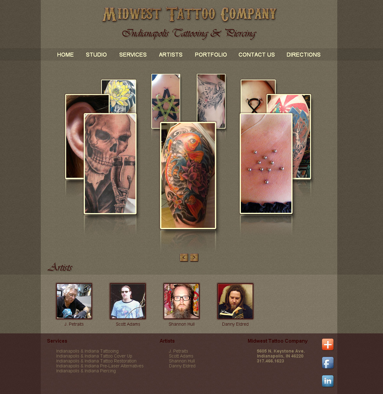 Midwest Tattoo Company Website