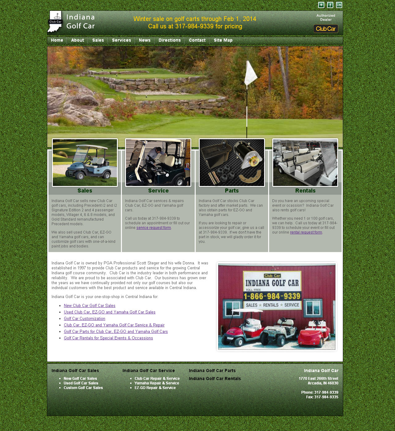 Indiana Golf Car Website