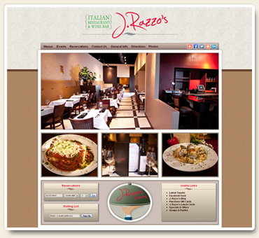 J. Razzo's Italian Restaurant & Wine Bar Website