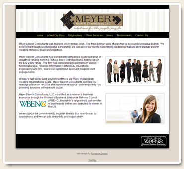 Meyer Search Consultants Website
